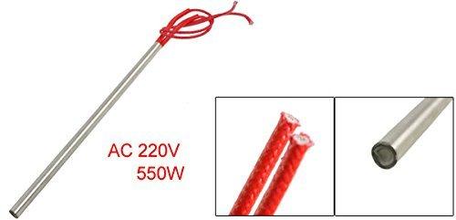 eDealMax en Acier inoxydable Tube filaire cartouche chauffante 8 mm x 200 mm Rouge, AC, 220 V, 550W