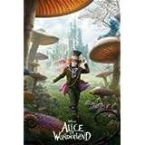 Johnny Depp Alice In Wonderland Movie Poster 24 x 36 inches
