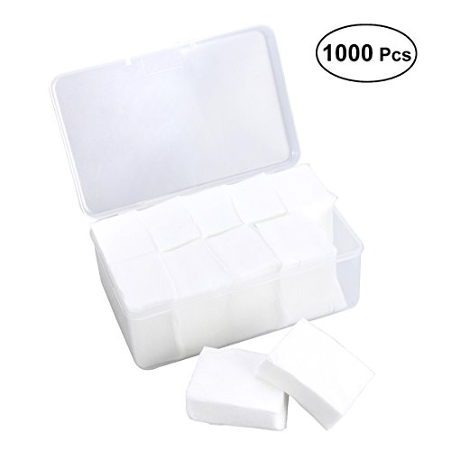 Frcolor 1000 counts Makeup Facial Soft Cotton Pads for Applying Lotion Removing Face Makeup Eye Makeup and Nail ()