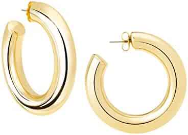 JANIS BY JANIS SAVITT High Polished Large Hoop Earrings