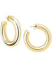 High Polished Large Hoop Earrings