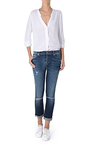 All Jeans Coton Femme 7 For Bleu SWJK750JHS1I1 Mankind 4xqCw85O