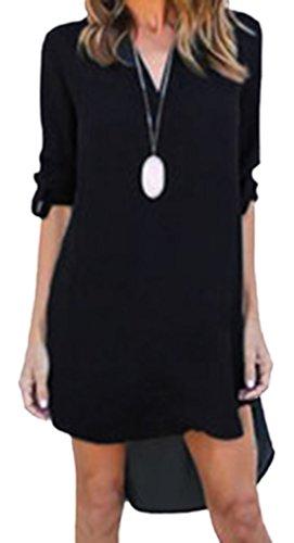 erdbeerloft - Vestido - Camisa - Opaco - para mujer negro