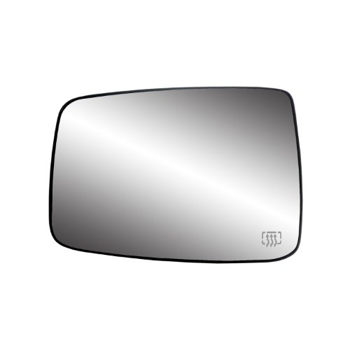 (Fit System 33244 Dodge RAM Left Side Heated Power Replacement Mirror Glass with Backing Plate)