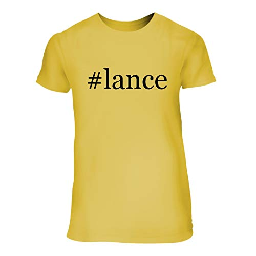#Lance - A Nice Hashtag Junior Cut Women's Short Sleeve T-Shirt, Yellow, Large