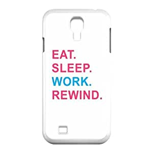New Brand Case for samsung galaxy s4 i9500 w/ Eat Sleep Rewind image at Hmh-xase (style 1)