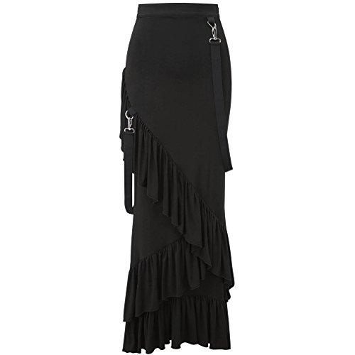 Para Mujer Negro Ajustado Falda Killstar qnUYwFB
