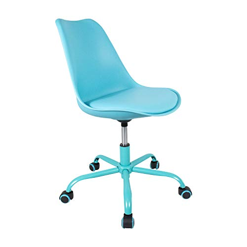 Price comparison product image Student Chair Easy Rolling New Creative Design Height Adjustable Seat Cushion Comfortable YURUCY Dining Chair 15 Seconds to Complete The Installation(Blue Chair)