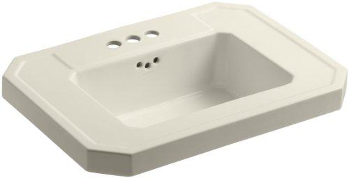 "KOHLER K-2323-4-47 Kathryn Bathroom Sink Basin with 4"" Centers, Almond"