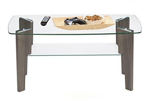 Mango Steam Mid Century Modern Glass Top Coffee Table, 37'' L x 20'' W by Mango Steam (Image #2)'