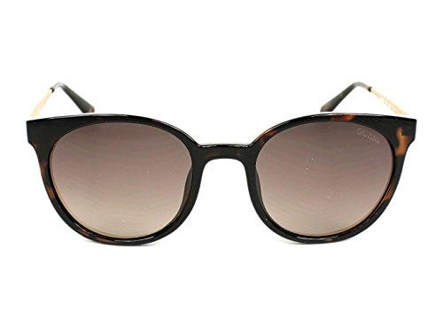 Guess lunettes de soleil rondes a atteint un sommet à la Havane foncé GU7503 52F 52 Dark Havana Brown Gradient