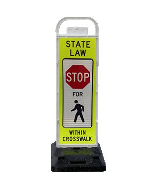 VP-6536-STOP-FB VP-6500 Series Stop in-Street Pedestrian Crossing Systems U-Frame, 32lb U-Base