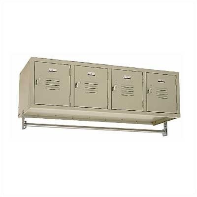 Vanguard Lockers - Four-Wide Wall Mount (Assembled) Color: Champagne Assembled 1 Wide Champagne