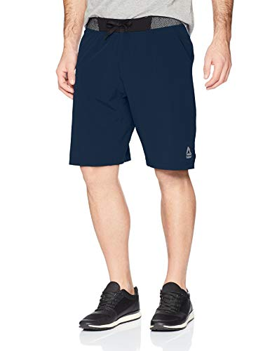 Reebok Men' Epic Knit Waistband Short, Collegiate Navy, Large