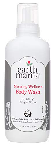 Earth Mama Morning Wellness Body Wash for Pregnancy and Sensitive Skin, 34-Fluid Ounce