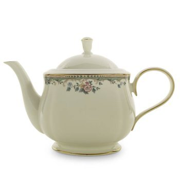 Lenox Spring Vista Gold Banded Ivory China Teapot (Vista Spring Dinnerware Fine)