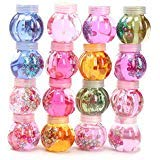 Chige 1Pcs Clay Toys, 2.3 OZ Jumbo Transparent Magic Plasticine Slimes Stress Relief Toy Sludge Toy for Kids and Adults, Super Soft and Non-sticky (Pumpkin bottle crystal clay)