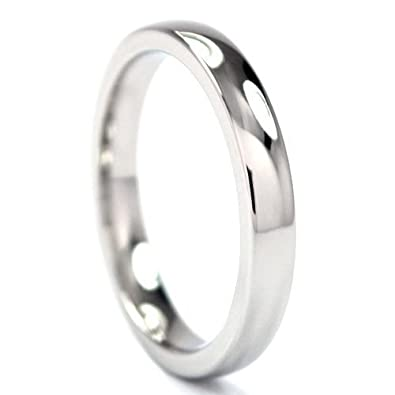 cobalt chrome ring cobalt rings cobalt wedding bands comfort fit - Cobalt Wedding Rings
