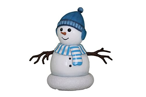 Queens of Christmas WL-SNMN-BOY-3.5 Polyresin Snowman Boy Display, 3.5'