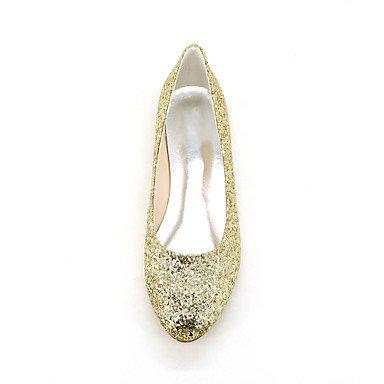 Cómodo y elegante soporte de zapatos de las mujeres pisos primavera verano otoño otros brillante boda fiesta y noche Casual Flat Heel negro oro plateado otros plateado