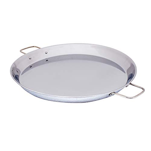 Mabel Home Stainless Steel Paella Pan (15 inch) - 38cm