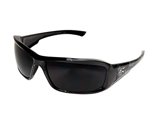 - Edge Eyewear TXB216-S Brazeau Safety Glasses, Black Skull Series with Polarized Smoke Lens