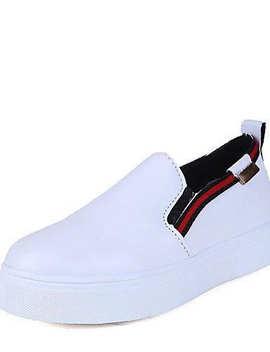 Casual Bajo Redonda Uk4 Punta Zq Cn39 Zapatos Gyht Red us8 Cn36 Rojo Tacón Eu36 Negro Semicuero De Uk6 Mujer Red us6 Blanco Mocasines Eu39 wY0xqzxSn