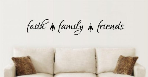 Enchantingly Elegant le058 Faith Family Friends Vinyl Decal Wall Art Words Sticker Lettering Quote Kitchen Living Room Home Decor