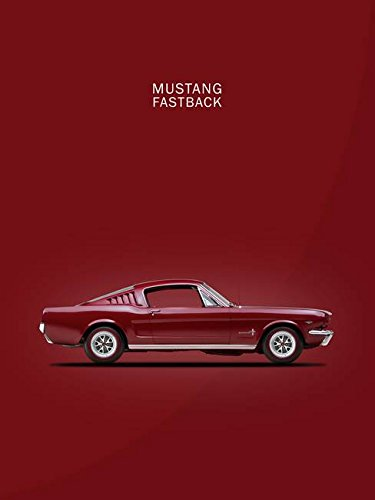 (Imagekind Wall Art Print Entitled Mustang Fastback by Mark Rogan | 36 x 48)