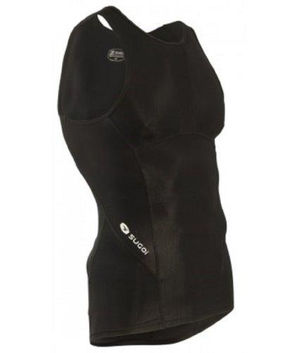 - SUGOi Men's Piston Tri Pocket Tank Top, Black, X-Large