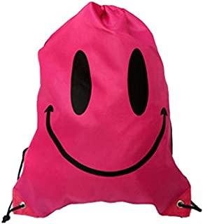 HATCHMATIC Haute Qualitã© Impermã©Able Sac à Dos Colorã© Drawstring Natation Double Couche Sac à Bandouliã¨Re pour Piscine Orts Extã©Rieur: Rouge Sourire