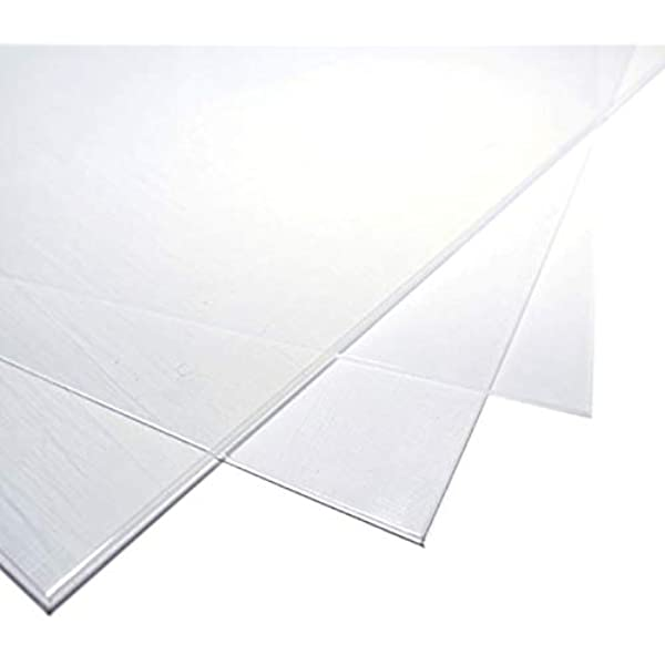 1 mm CLEAR Polycarbonate Sheet with single side UV protection 500 mm X 300 mm