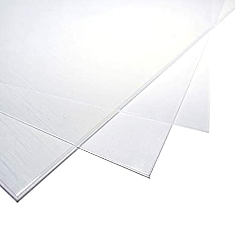 Transparent Glass Replacement Board BuyPlastic Clear Polycarbonate Plastic Sheet 1//32 x 8 x 10 Lexan Panel