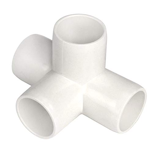 Gardeningwill 4 Way 3/4-Inch Tee PVC Fitting Build Heavy Duty Greenhouse Frame Furniture Connectors (Pack of 8) ()