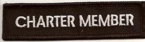 Charter Member - CHARTER MEMBER BLACK Embroidered Officer Founder MC Biker Vest Patch PAT-0402