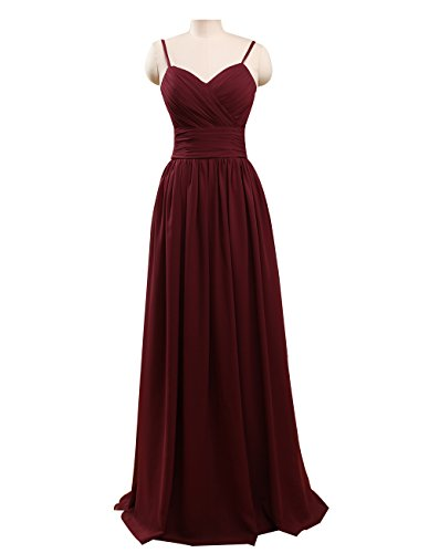 Prom Queen Long Sexy Floor Length Bridesmaid Sweet Heart Prom Dress US22 Burgundy (Floor Sexy)