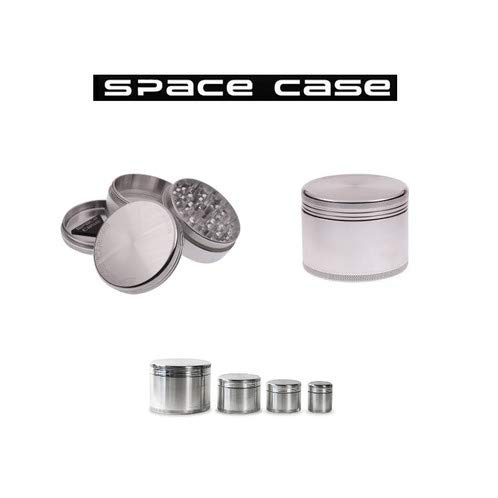 Metal Herb Grinder 2 Part Space Case Spacecase Aluminium Magnetic