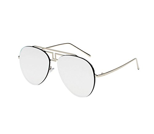 Polarized ultra-light pilots yurt men and women deserves cool sunglasses (Silver color, - Fat Sunglasses Man