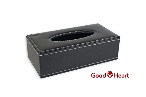 Goodheart's Stylish Tissue Box Cover – Rectangular PU Leather Facial Tissue Box Holder for Bathroom, Office, Car, Vanity, - Do For Measure Glasses Face My How I