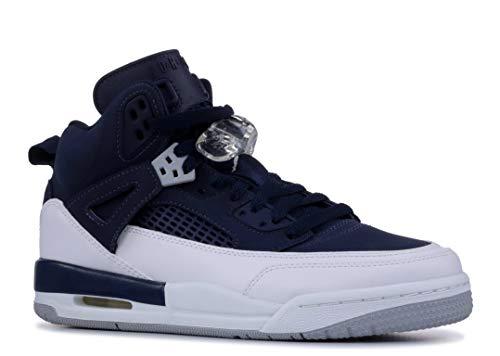 Jordan Nike Kids Spizike BG Midnight Navy/Metallic Silver Basketball Shoe 6.5 Kids US