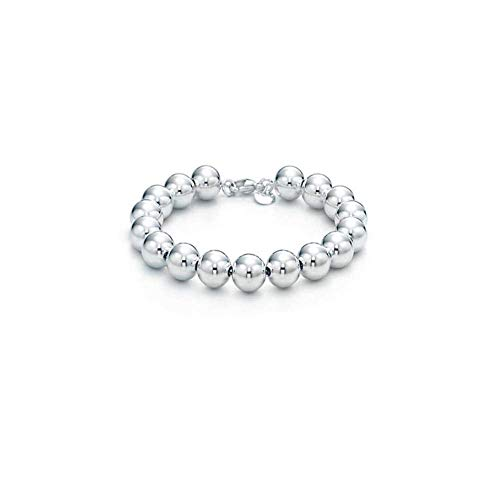 Verona Jewelers Sterling Silver 4MM-10M Italian Bead Ball Chain Bracelet- Handmade Bead Italian Bracelet, Silver Bead Bracelet for Women (7.5, - Sterling Beaded Silver Necklace