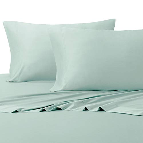 Royal Hotel Top-Split-King: Adjustable King Bed Sheets 4PC Solid Sea 100% Cotton 600-Thread-Count, Deep Pocket