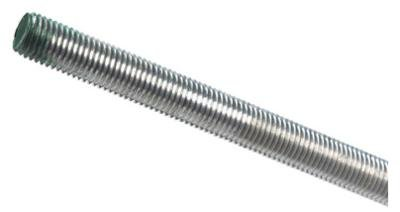 Forney 49676 Galvanized All-Thread Rod, 3/4'' x 10 x 3'