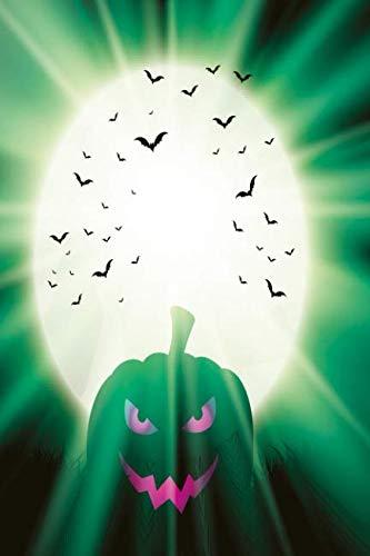 (Kürbis im grünen Mondlicht Notizbuch: Schauriges Halloween Notizbuch (German)