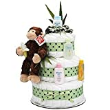 Jungle Monkey 3 Tier Diaper Cake
