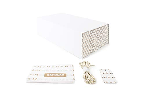 White and Gold Gift Box for Any Special Occasion | Gift Box Size: 12 x 7 x 4 inches (Gold ()