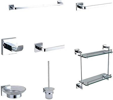 バスルームアクセサリー バスルームハードウェアセット、ステンレスタオルバー壁掛けバスアクセサリーセット