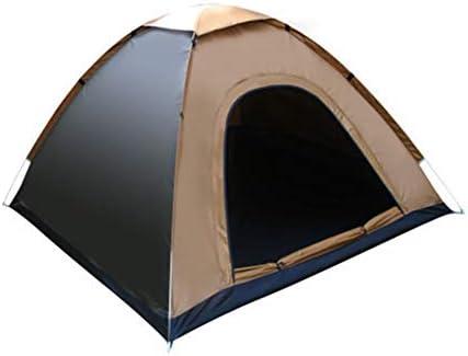 Outdoor Camping Ultralight Draagbare Waterdichte Tenten Snelle Automatische Opening Strandtenten Zonnescherm Voor Wandelen Reizen,Brown,3 to 4 Person