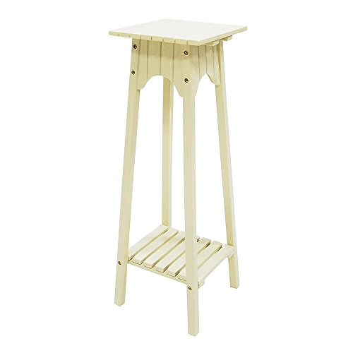 - Achla Designs Eucalyptus Wood English Plant Stand, Antique Ivory