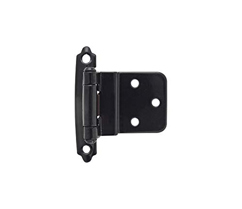 - Amerock BPR3428BK Functional Hardware Self-Closing Face Mount Hinge 3/8 Inch Inset Black Pack of 2